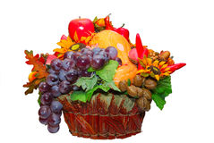 De mand van vruchten en van groenten Stock Foto