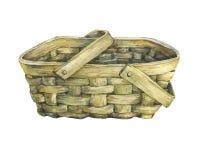 De mand wattled van hout royalty-vrije illustratie