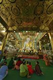 De Mandalay adoração logo U Ponya Shin Pagoda fotos de stock royalty free