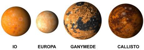 De manen van Jupiter van de planeet royalty-vrije illustratie