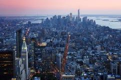 De Manhattan opinión aérea de la ciudad abajo Imagen de archivo