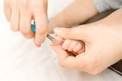De manicure van de baby stock foto