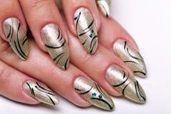 De manicure van spijkers Stock Foto's