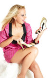 De manie van schoenen Stock Fotografie