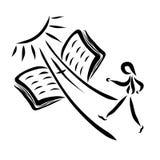 De Manier aan Hemel door geloof in Jesus Christ vector illustratie