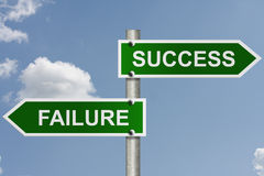 De manier aan succes of mislukking royalty-vrije stock afbeeldingen