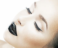 De manier duidelijke gezonde huid van de schoonheid, vers gezicht Royalty-vrije Stock Afbeelding