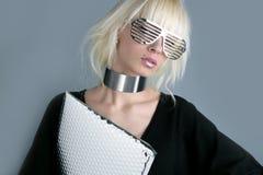 De manier futuristische onderneemster van de blonde royalty-vrije stock fotografie