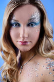De manier kijkt make-up Stock Foto's