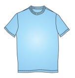 De manier kleedt de blauwe illustratie van de t-shirtvorm Stock Afbeeldingen
