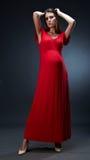 De manier kleedt zwangere vrouw Stock Fotografie