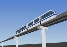 De manier van de monorail vector illustratie