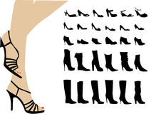De manier van de schoen Royalty-vrije Stock Foto