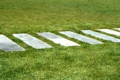 De manier van de steen in gras Stock Afbeelding