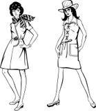 De manier van de vrouw, vector Royalty-vrije Stock Foto