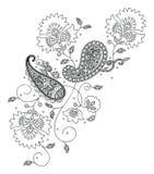 De manier van het de hennaontwerp van Kashmir Stock Afbeelding