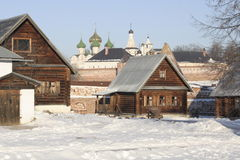 De manier van het leven in oud Rusland Stock Fotografie
