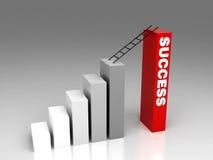 De manier van het succes Stock Afbeelding