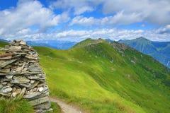 De manier van Stubnerkogel, Slechte Gastein, Kabelbaan, Oostenrijk Stock Foto's