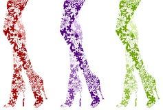 De manierbenen van de aantrekkingskracht op wit Stock Afbeelding