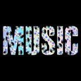 De manierdruk van de muziek abstracte T-shirt met holografische CD-schijven vector illustratie