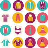 De Manierpictogram van de warenhuiskleding. Royalty-vrije Stock Fotografie