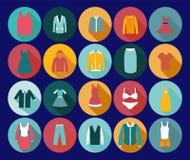 De Manierpictogram van de warenhuiskleding. Stock Afbeelding