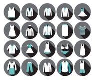 De Manierpictogram van de warenhuiskleding. Stock Foto