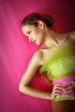 De manierportret van de schoonheid van een vrouw Royalty-vrije Stock Foto's