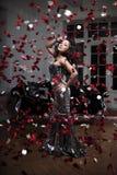 De maniervrouw van de luxe royalty-vrije stock fotografie
