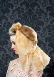 De maniervrouw van het kappen en van de make-up Royalty-vrije Stock Foto's