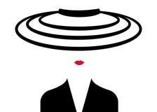 De maniervrouw van het winkelembleem Bedrijf Logo Design Stock Afbeeldingen