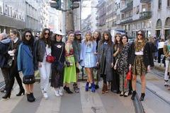 De manierweek van Milaan Stock Afbeelding