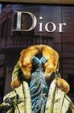 De manierwinkel van Dior Royalty-vrije Stock Afbeelding