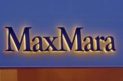 De manierwinkel van MaxMara Stock Foto