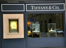 De manierwinkel van Tiffany Stock Afbeeldingen