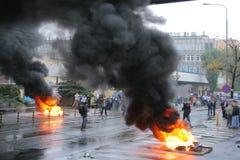 De manifestatie van arbeiders stock fotografie