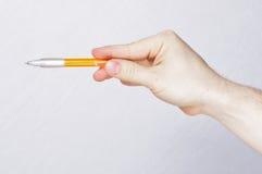 De mannelijke pen van de handholding Stock Fotografie