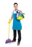 De mannelijke schoonmakende dienst royalty-vrije stock fotografie