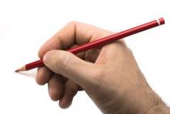 De mannelijke Tekening van de Hand Stock Afbeeldingen