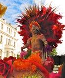 De mannelijke uitvoerder Londen Engeland van Carnaval van de Nottingsheuvel royalty-vrije stock foto's