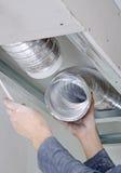 De mannelijke ventilatie van de handenvestiging Royalty-vrije Stock Foto