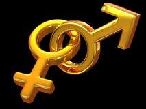 De Mannen en de Vrouwen van het symbool. Liefde vector illustratie