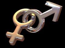De Mannen en de Vrouwen van het symbool. Liefde stock illustratie