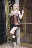 De Mannequin van blondesteampunk Royalty-vrije Stock Foto