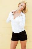 De mannequin van de blonde Stock Foto's
