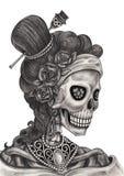 De mannequindag van de schedelkunst van de doden Stock Afbeeldingen