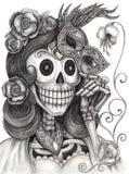 De mannequindag van de schedelkunst van de doden Stock Afbeelding