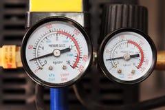 De Manometer van de Druk van de lucht Stock Foto