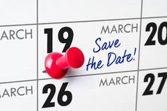 19 de março Imagens de Stock Royalty Free